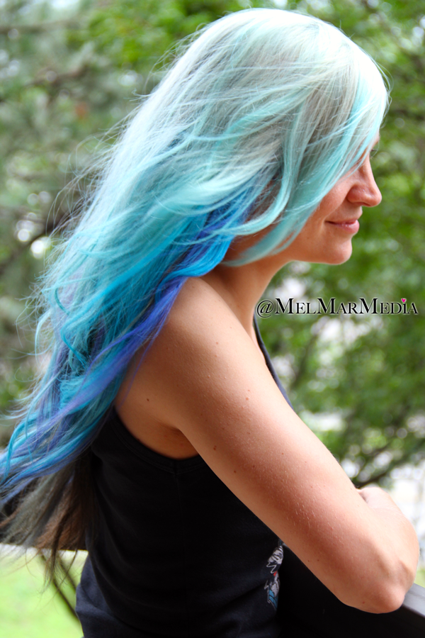 blue ombre hair brought to you by garnier color styler temporary punk rock hair blog posts aesthetic artistry pinterest home colors and goddesses - Garnier Color Styler