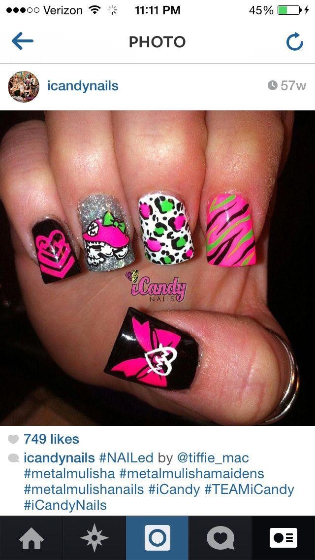 Metal mulisha nails | Nails | Pinterest | Metal mulisha