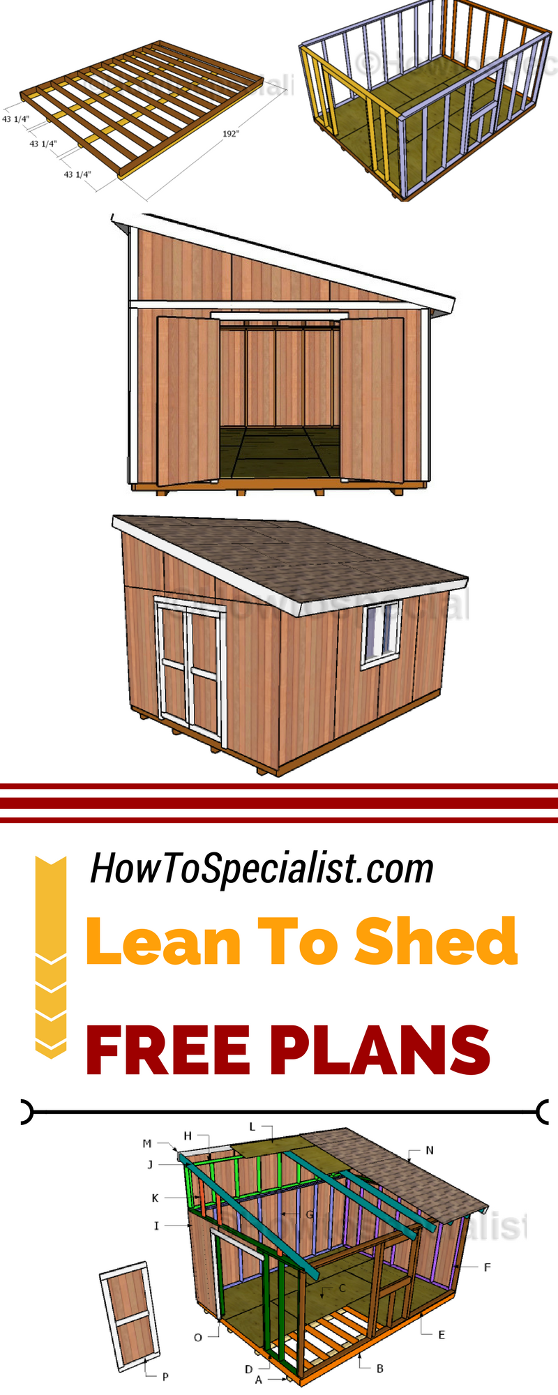 12x16 Lean To Shed Plans Best Of Diy Projects Storage Shed Plans
