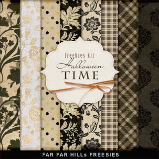 Far Far Hill - Free database of digital illustrations and papers: Freebies Paper Kit - Halloween Time