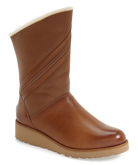 344026285874 Chestnut Lorna Leather Ankle Boot - Women