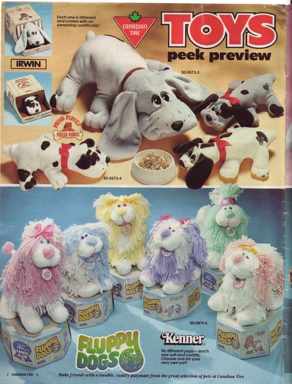 1986 Canadian Tire flyer mini catalogue catalog Toys peek