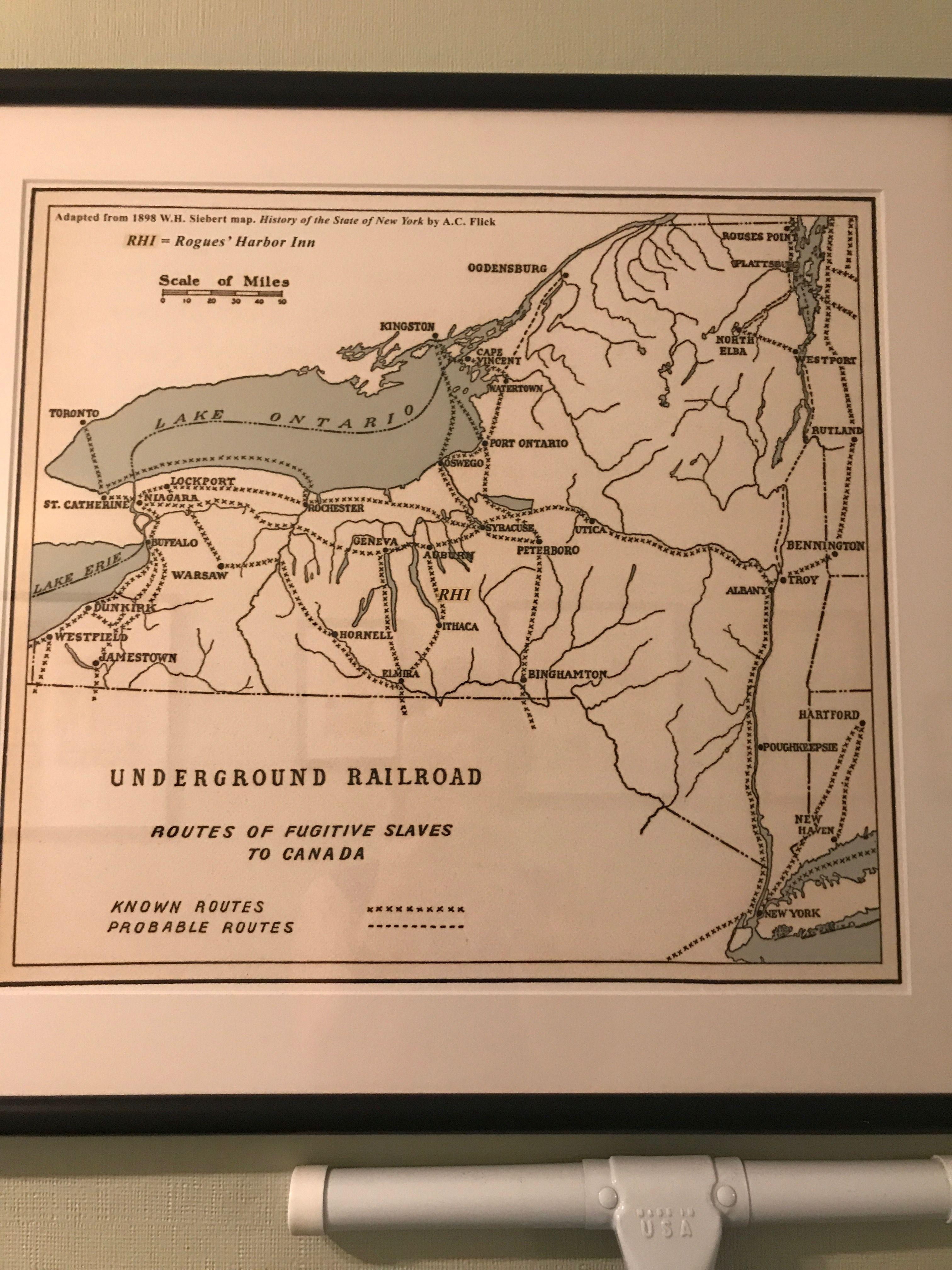 Underground Railroad Through New York