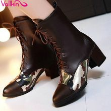VALLKIN New fall 2015 PU Leather Boot Ankle Boots Oxfords Shoes Women's Shoes Elegant Comfortable Women Shoes size 34-39(China (Mainland))