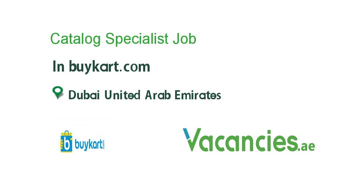 Catalog Specialist Job, Catalog, The unit