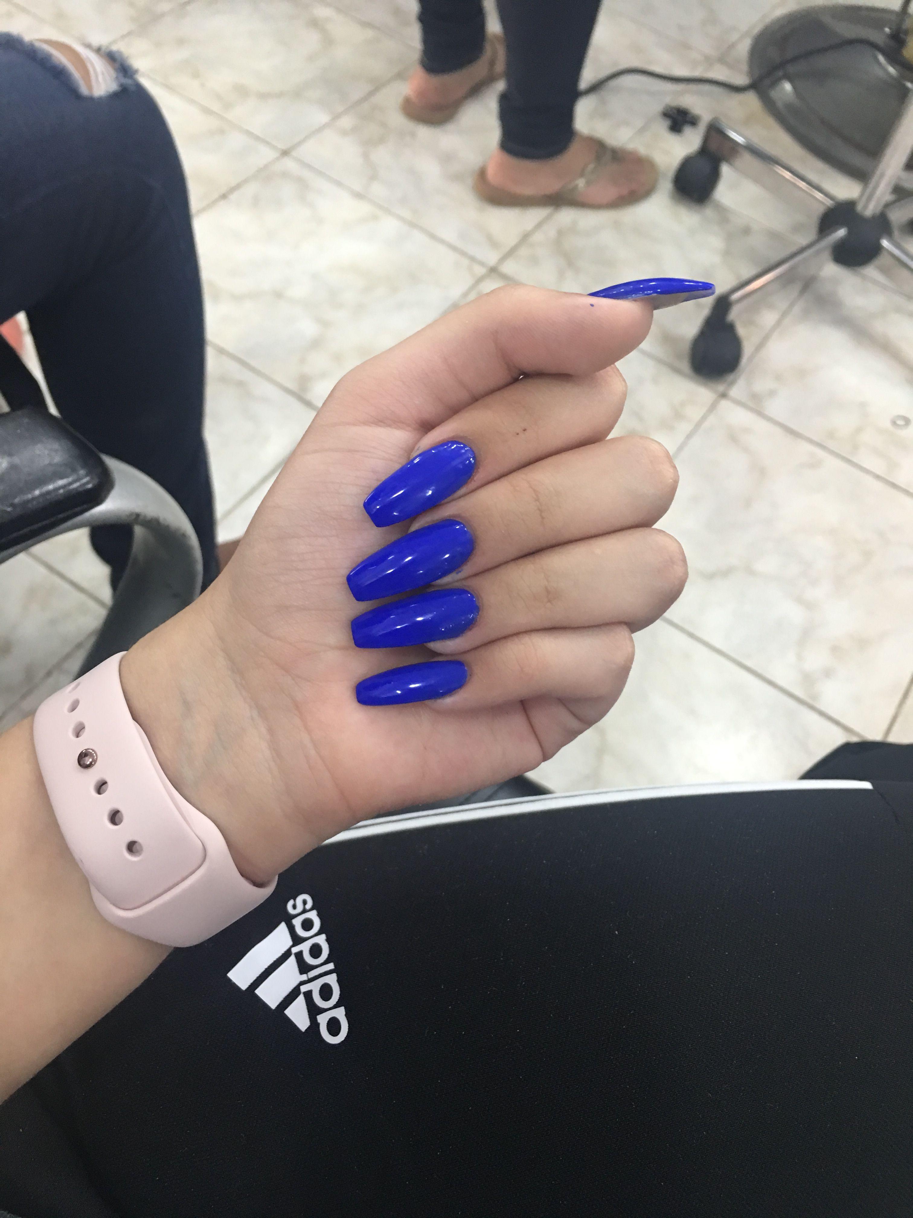 Light Blue Acrylic Nails Prom