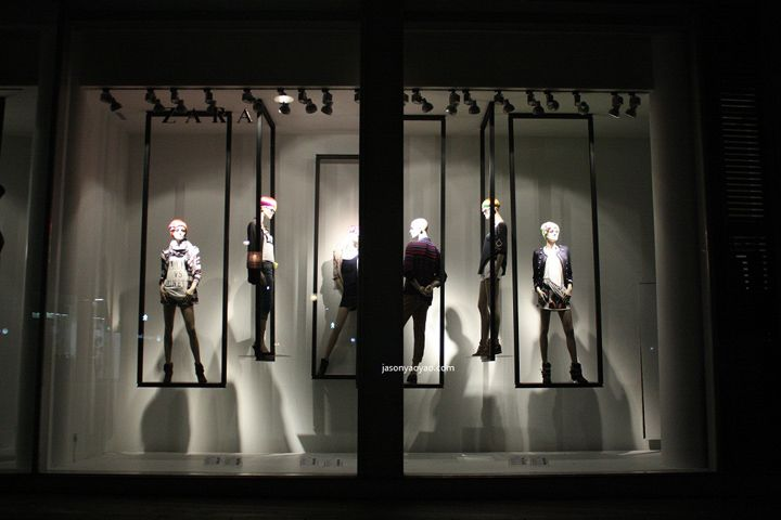 Exhibition Stand For Zara : Zara windows at bond street london visual