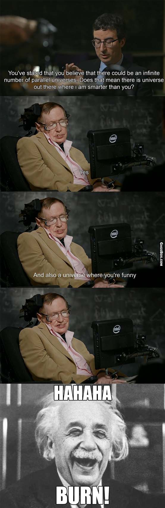 Stephen Hawking Has A Great Sense Of Humor - #funny, #lol, #jokes, #funnypictures, #lolpics, #funnypics,