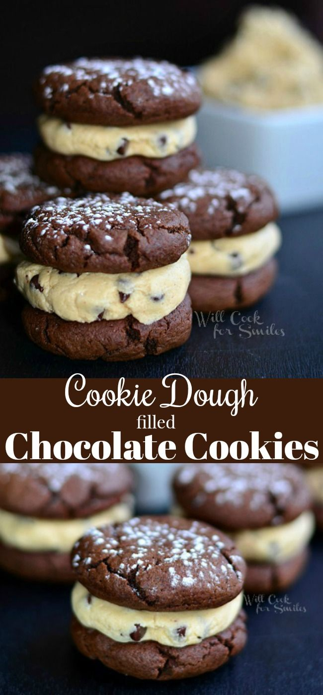 Cookie Dough Filled Chocolate Cookies