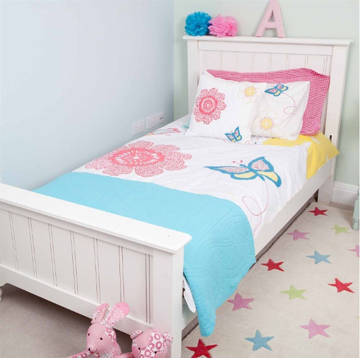 Cot Bed Duvet Cover Daisy Fl