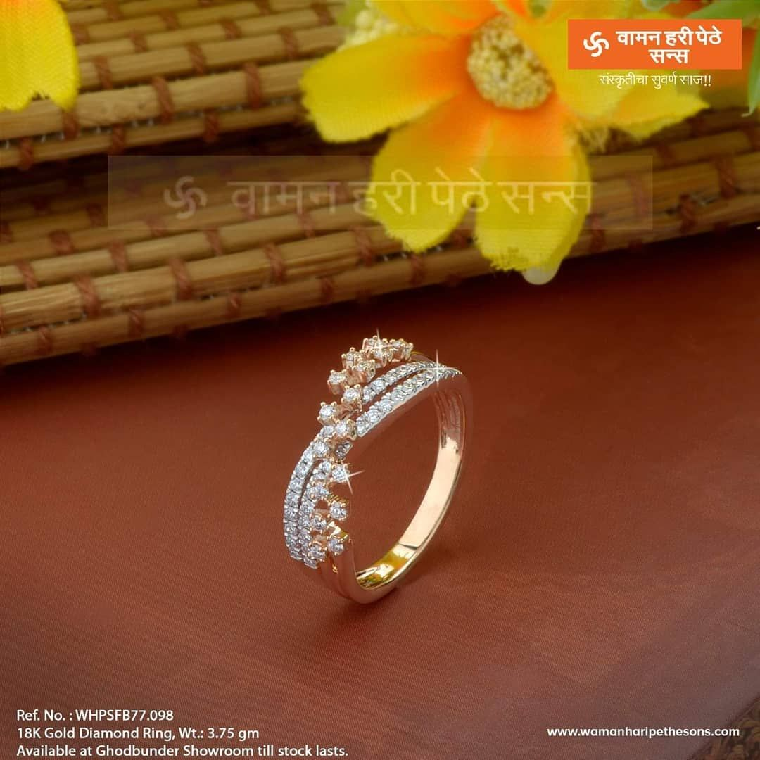 "c4c97fd0b Waman Hari Pethe Sons on Instagram: ""Here is our Exquisite #sparkling #Gold  #ring from our #glittering collection. #Jewellerycollection #finejewellery  ..."