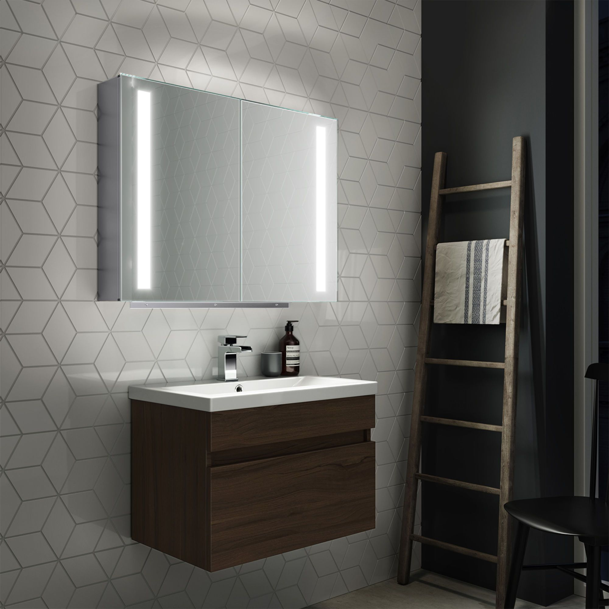 16+ Bathroom mirror cabinets with battery operated lights model
