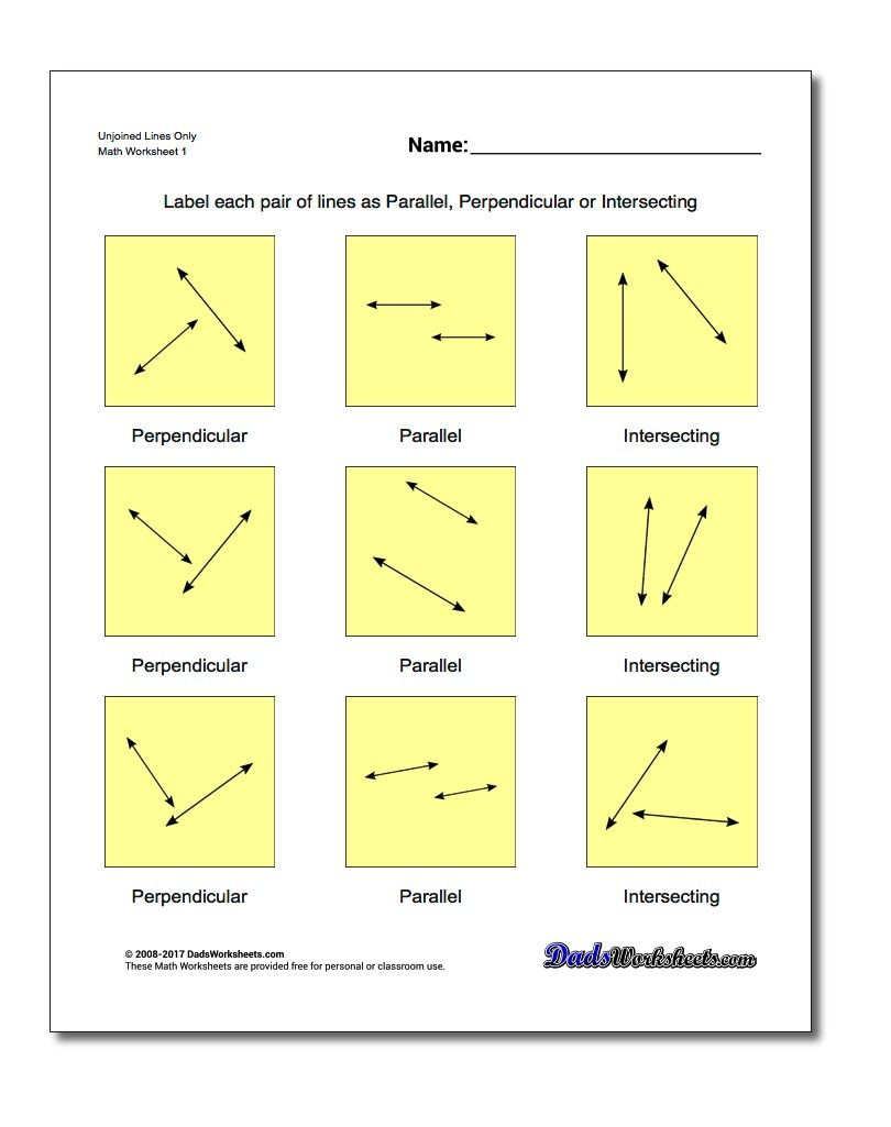 Worksheets Basic Geometry Worksheets unjoined lines only worksheet basic geometry worksheet