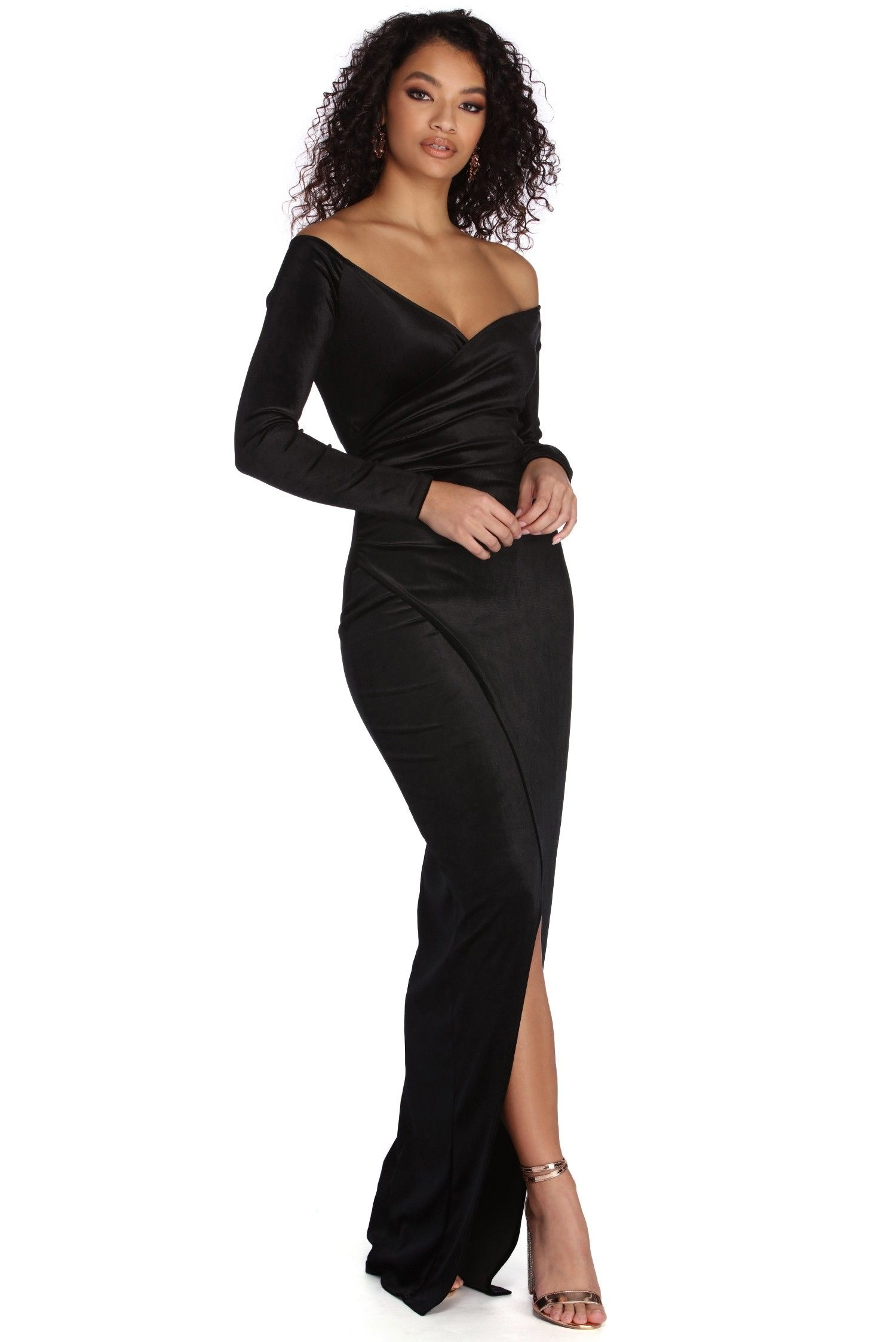 eb46bd5ac9da Mariana Formal Velvet High Slit Dress in 2019 | Fancy | High slit ...