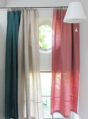rideau jute coton et lin couleur bleu p trole en fil d 39 indienne id es pour la maison. Black Bedroom Furniture Sets. Home Design Ideas