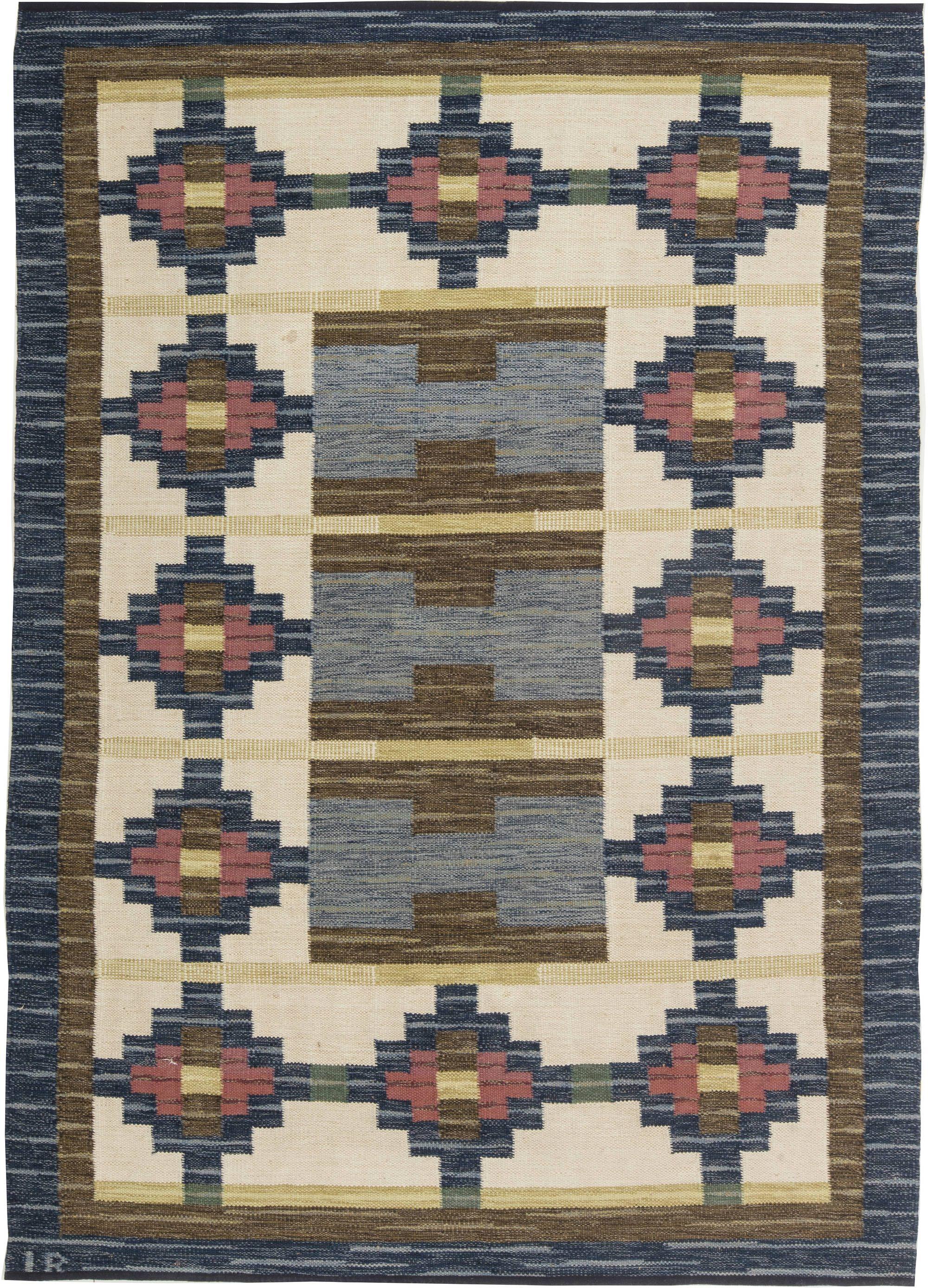 Swedish Flat Weave Rug By Ir Bb6312 By Dlb Flat Weave Carpet Boho Rug Flat Weave Rug