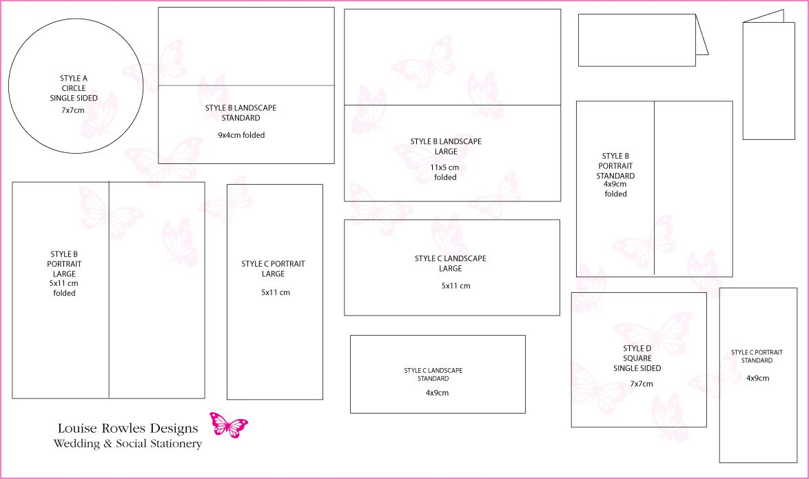 Standard Size For Wedding Invitation: Place Cards Sizes & Layouts » Louise