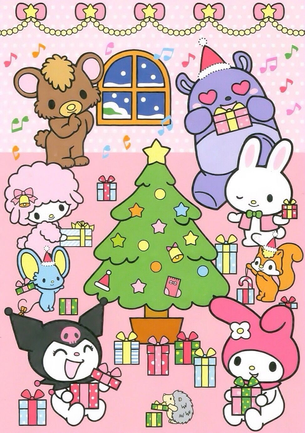 My Melody Kuromi Christmas Hello Kitty Pictures My Melody Wallpaper Kawaii Christmas