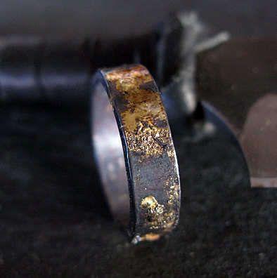 14k Rose Gold 14k 18k Yellow Gold Sterling Silver Mixed Metal Ring