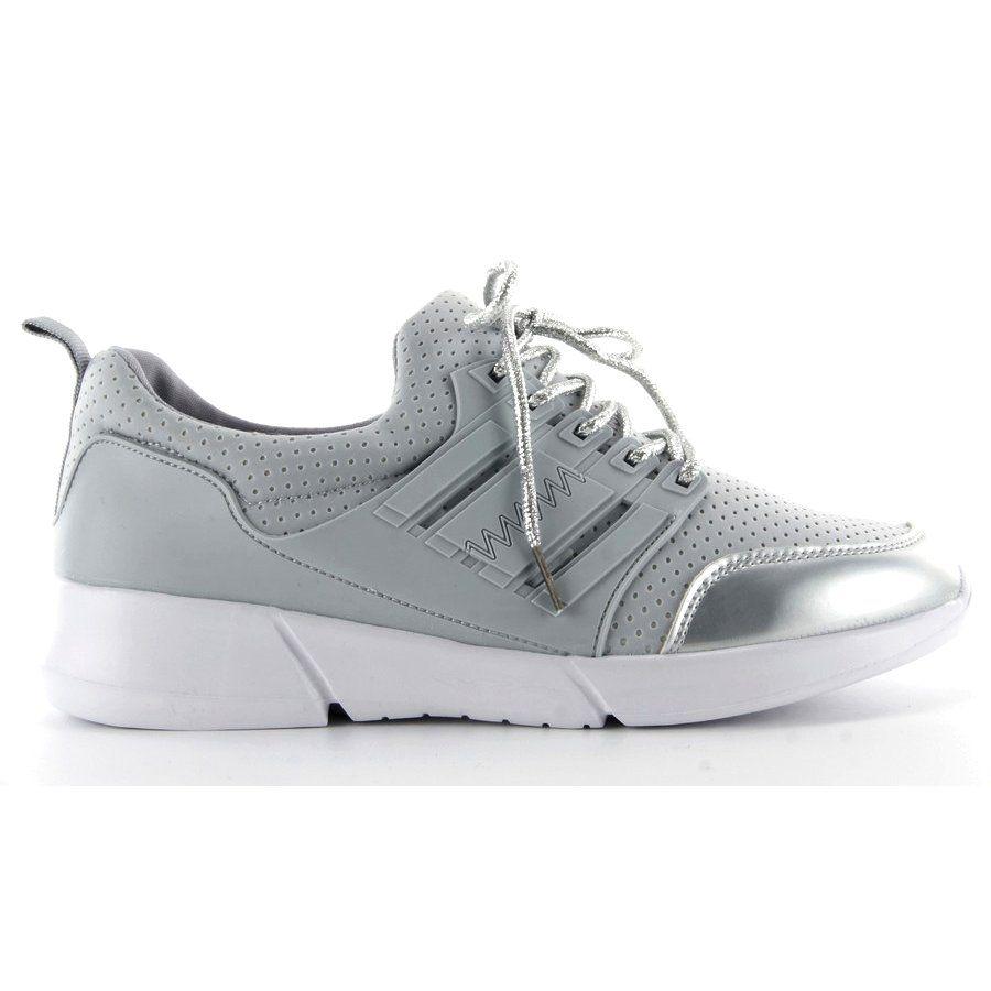 Lekkie Buty Sportowe R57 Grey Szare Shoes Sneakers Fashion