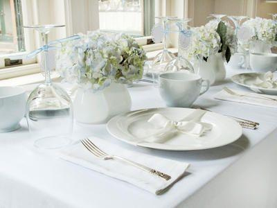 White and Blue Bridal Shower Brunch