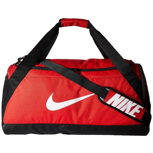 246bdddfb4 Nike Brasilia Medium Duffel Bag (University Red Black White) Duffel ...