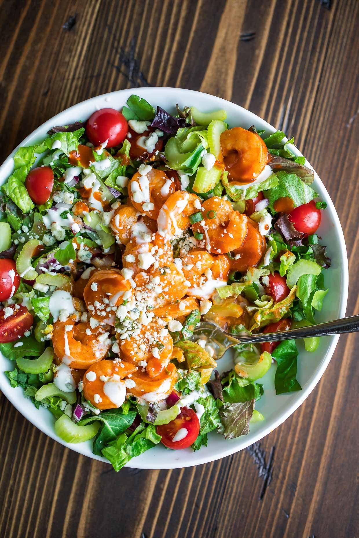 Buffalo Shrimp Salad Recipe - Peas and Crayons