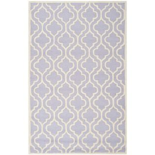 safavieh handmade moroccan cambridge lavender rectangular wool rug 5u0027 x 8u0027