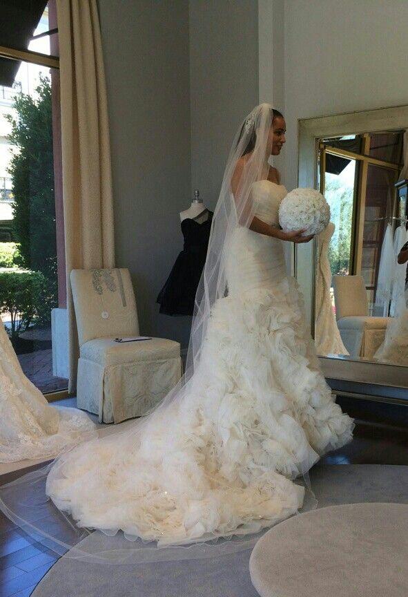 My Stefan Jolie Organza Mermaid Wedding Gown