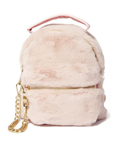 10e33bea5fb6 Goin  Soft Furry Backpack