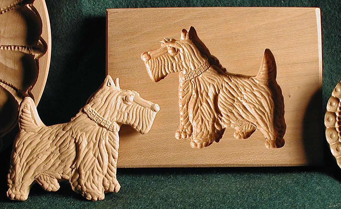 Scottish Thistle Shortbread Cookie Molds. & Deep Cavity Molds for Gingerbread