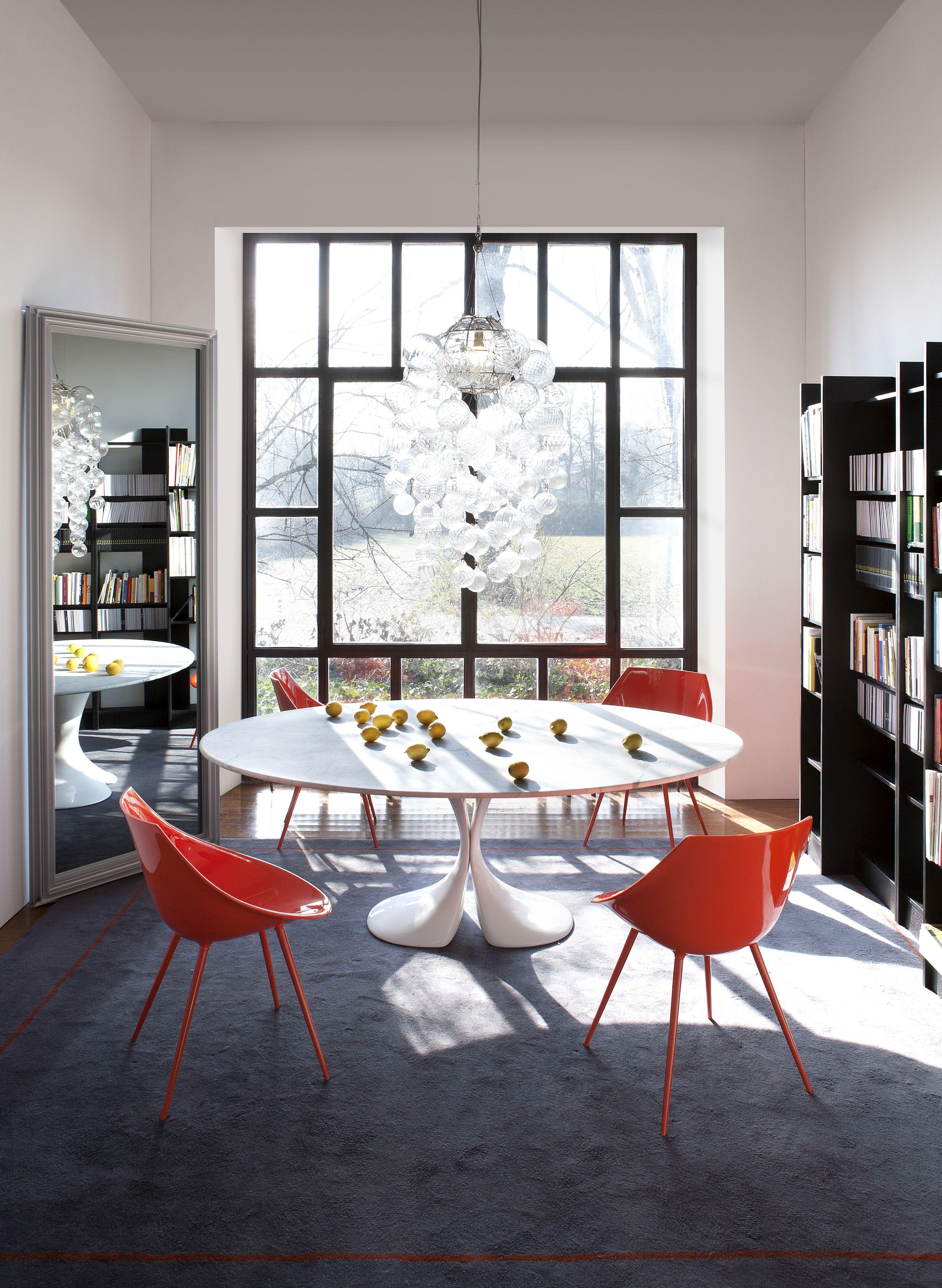 Table Didymos Marbre 180 x 126 cm Plateau en marbre blanc