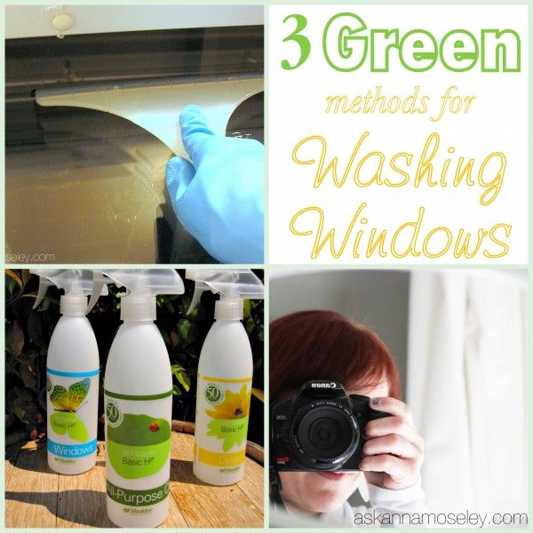 1. Great for exterior windows. 2. Shaklee spray and cloths 3. ZapCloth!