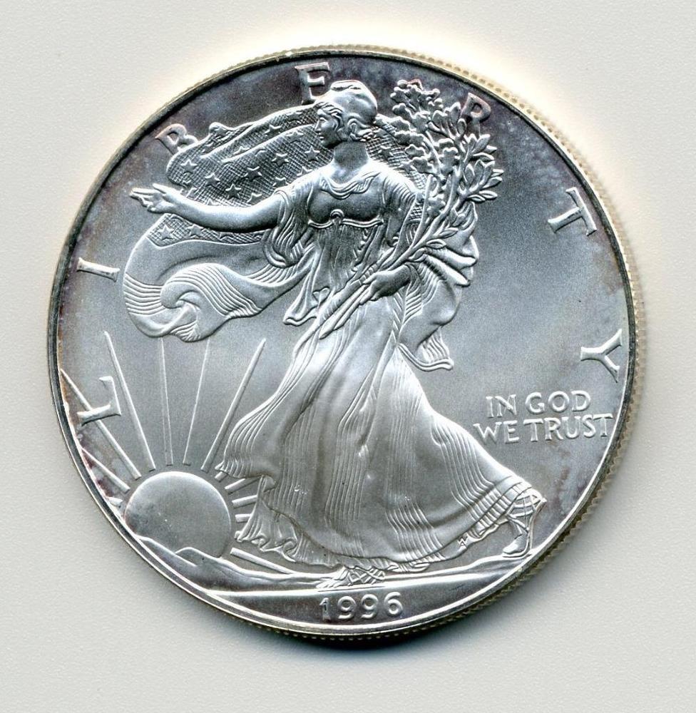 Better Date 1996 One Dollar 1 American Eagle 1 Oz 999 Fine Silver Coin 225 Silver Bullion Silver Coins Bullion