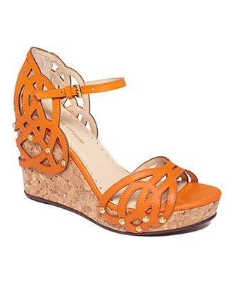 d2b5b3ce807 Adrienne Vittadini Shoes, Clementine Platform Wedge Sandals ...