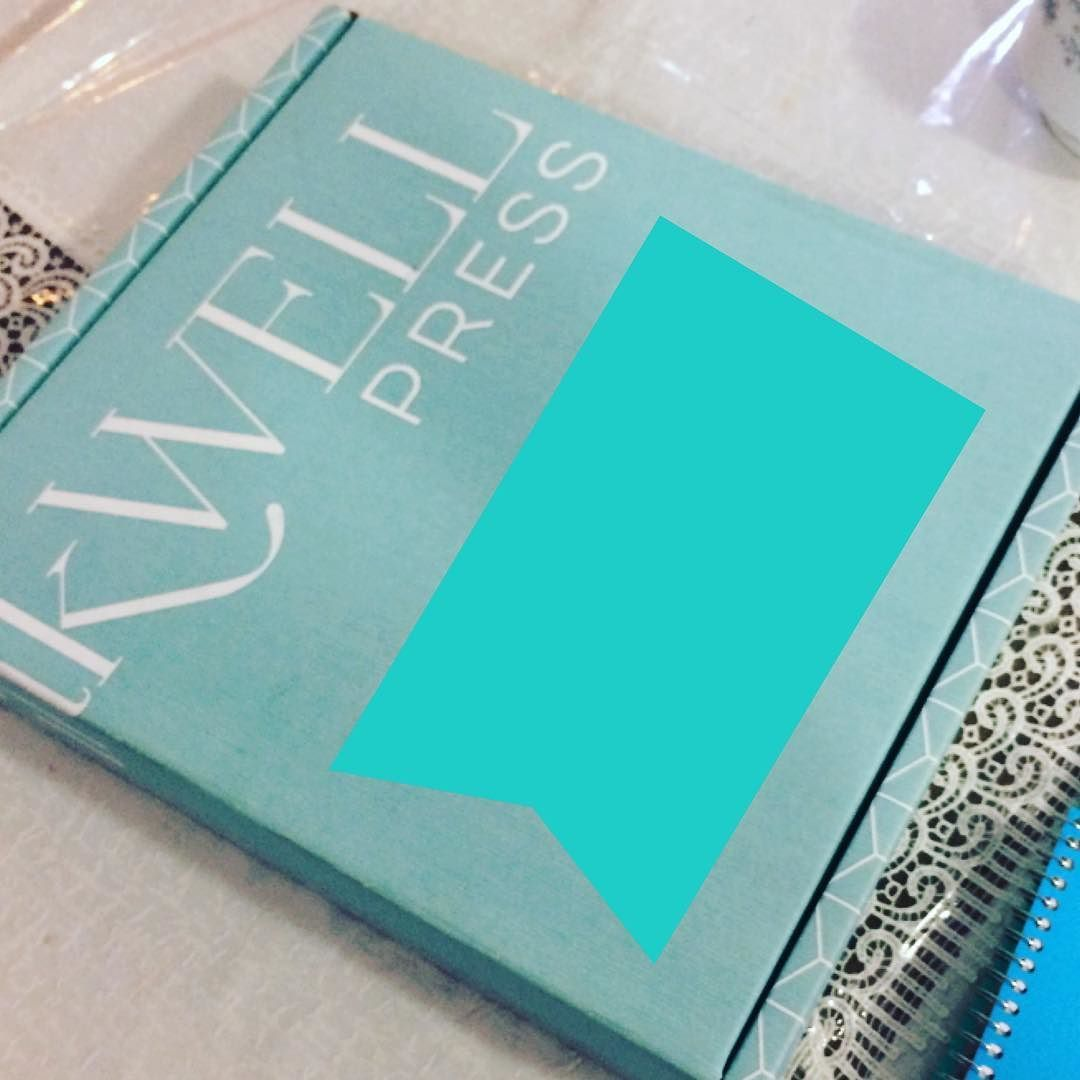My sister sent me this picture... MY INKWELL PRESS PLANNER IS HERE!! @inkwellpress Thank you Tonya for hosting the #lovemyiwp giveaway