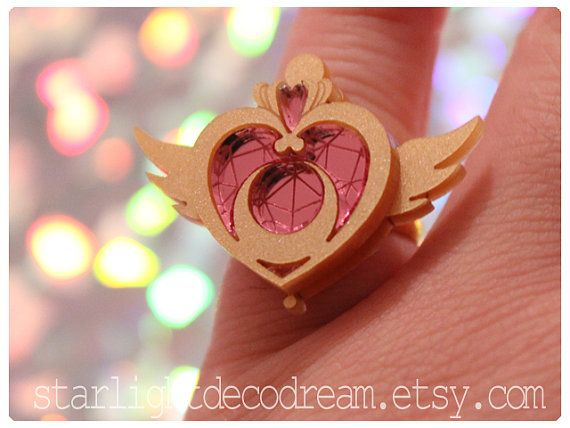 MINI Crisis Moon Compact Adjustable Ring Sailor Moon Inspired Fanart Jewelry for Mahou Kei, Magical Girl Fashion on Etsy, $16.00