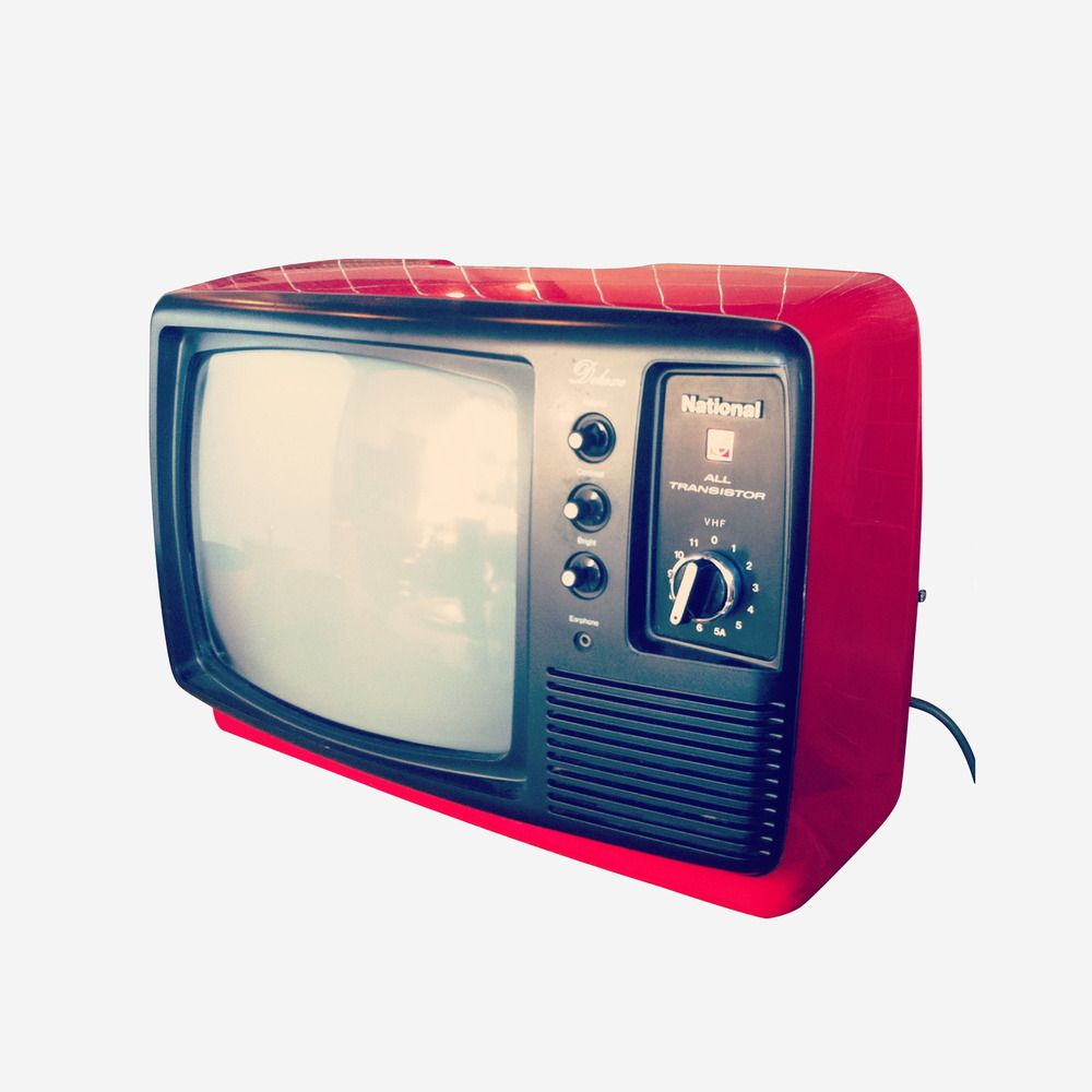 Made in Japan, before colour, before remotes, before digital..This television is in lovely condition and still looks amazing today!