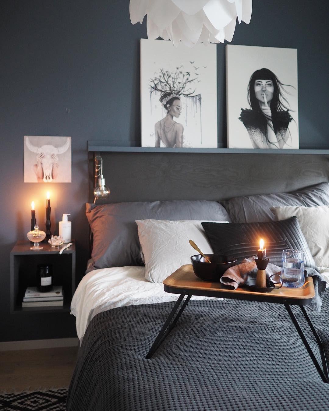 """Photo of Nina på Instagram: """"Jeg hører deg ringe .. 🛌😴. . . . . . #bedroomdecor #bedroominterior #bedroom #soverom # soverom # soverom #mynordicroom @ mynordicroom… """""""