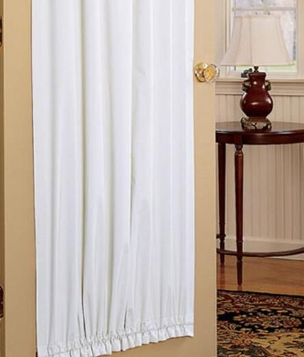 Light Blocking Door Curtains, Blackout Door Panel Curtains   Country  Curtains®