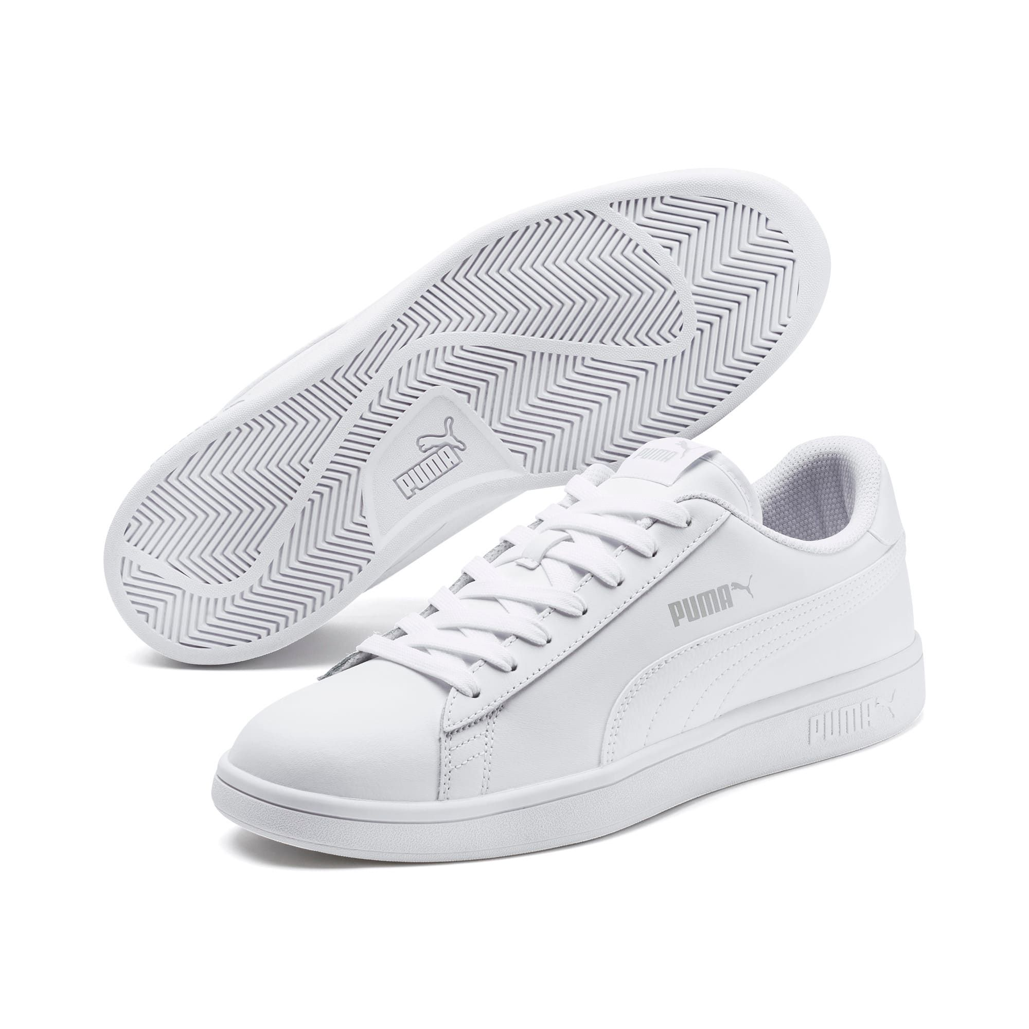 PUMA Smash V2 Leather Trainers in White size 10.5 | White
