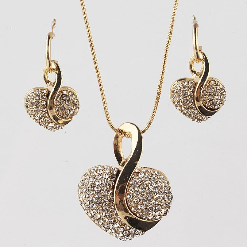 Gold Filled wedding women Necklace bead chain jewelry fashion cute noble Collar