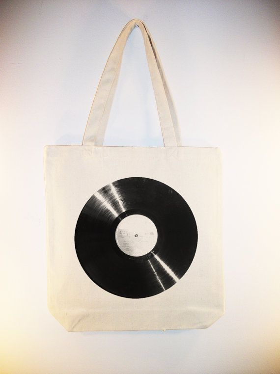Vinyl Record Album Image Canvas Tote Other Sizes By