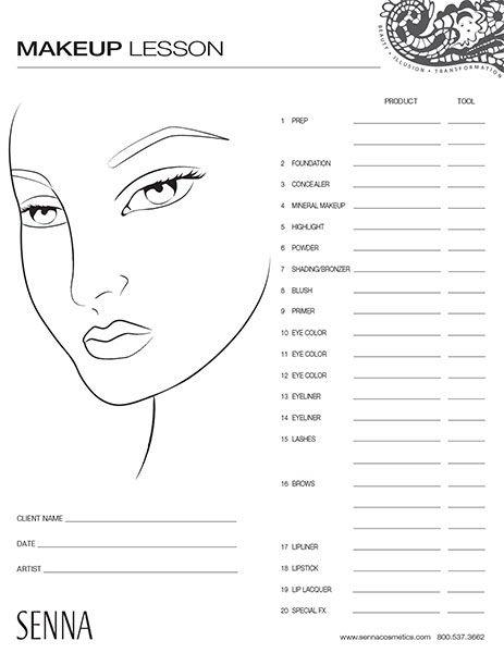 Make Up Face Template  Google Search  Freelance Makeup Artist