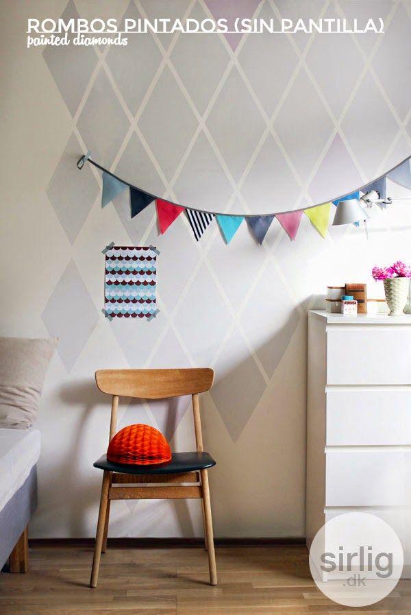 5 ideas geniales para decorar tus paredes con rombos · 5 great ideas ...