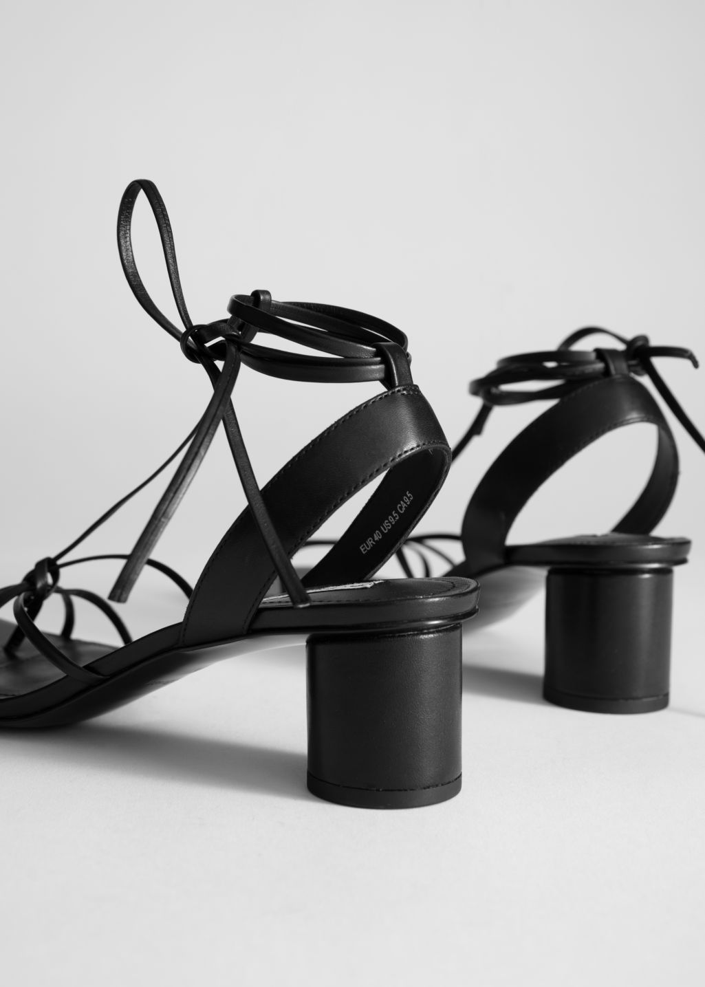 de0ef3bc69754 Square Toe Lace Up Heeled Sandals in 2019 | EDIT | The LauLauLand ...