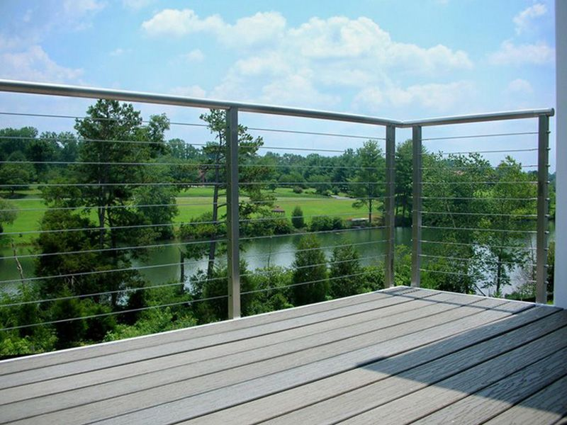 Exceptional Trex Deck With Stainless Steel And Cable Railing System