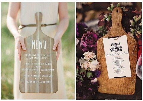 menu de mariage sur planche en bois mariage menu mariage menu id es de mariage. Black Bedroom Furniture Sets. Home Design Ideas