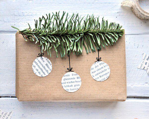 DIY - 9 schöne und wirkungsvolle Verpackungen für Weihnachtsgeschenke mit Packpapier und einfachen Materialien #photosofnature