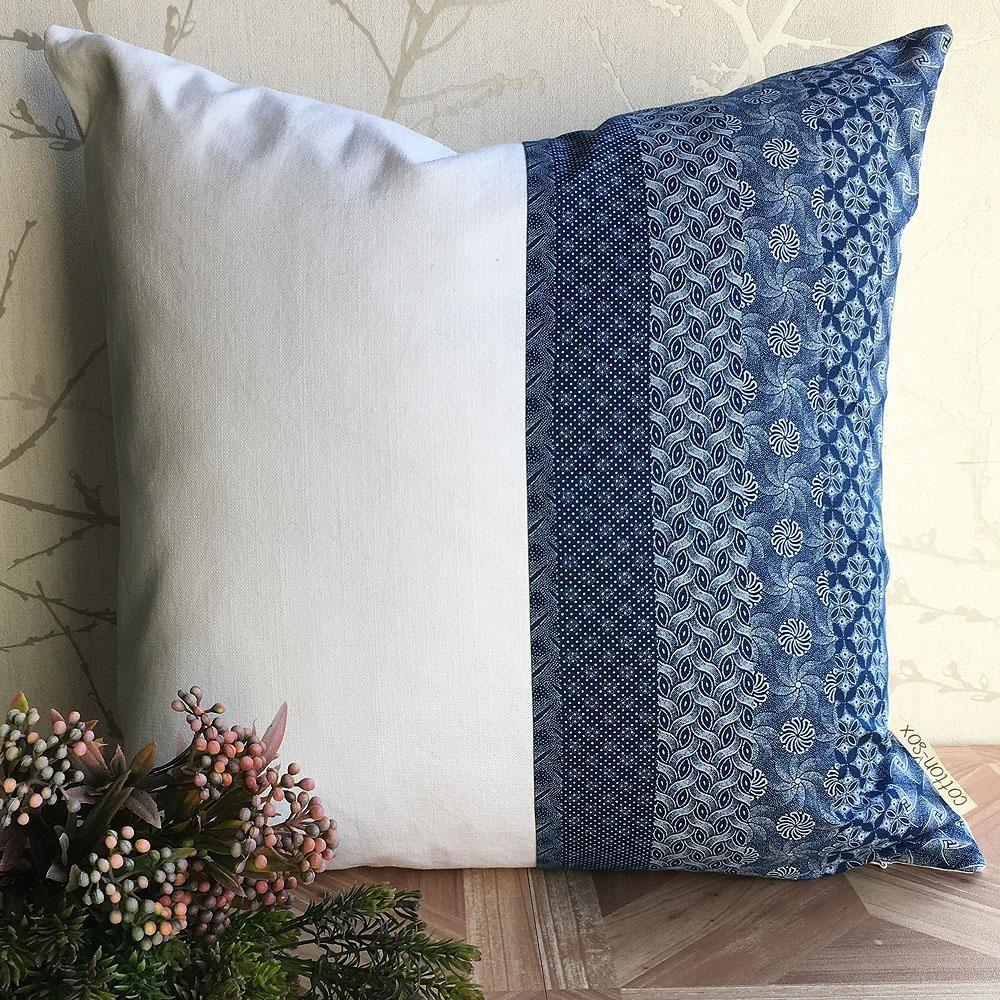 d0bd12f9dcd Shweshwe Cotton Cushion Cover 50 x 50cm Three Cats South African Textiles